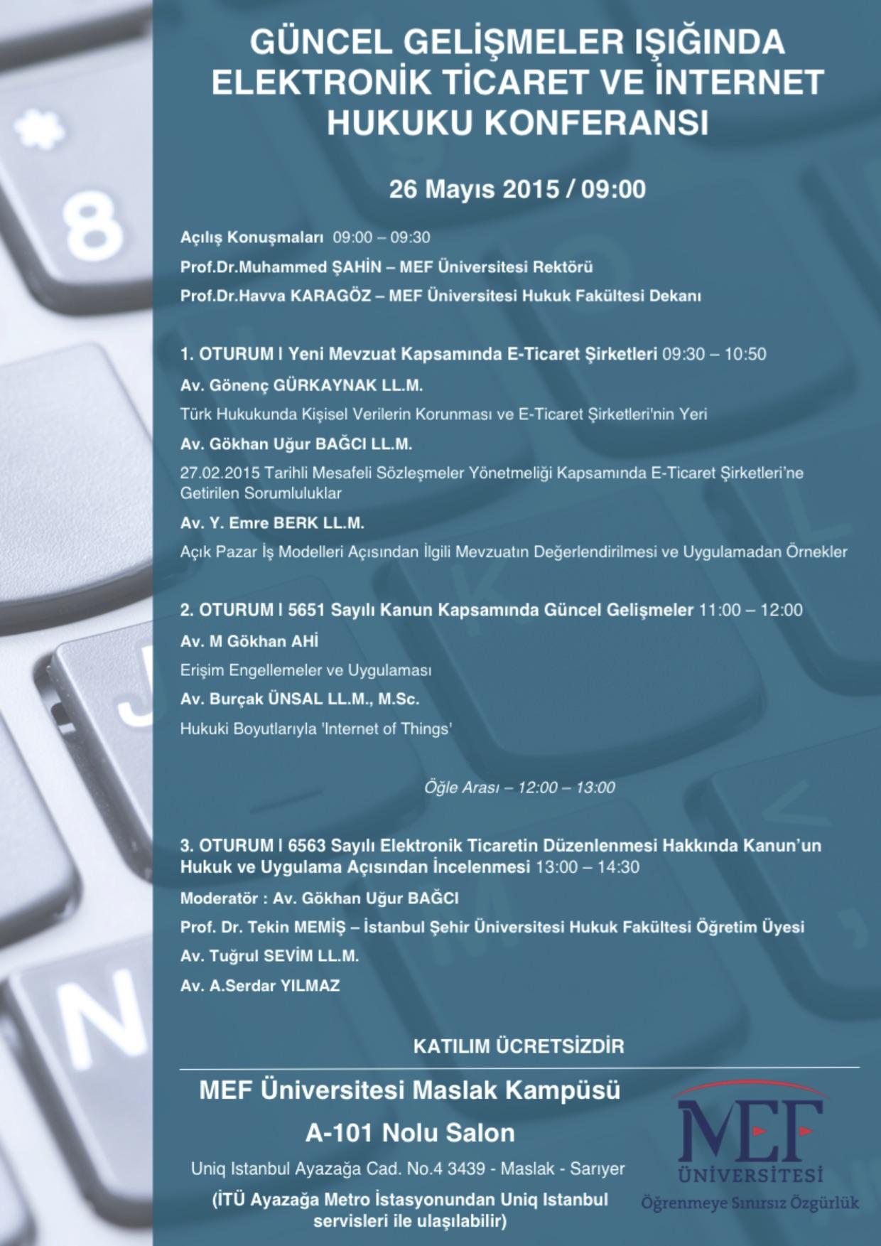 ETicaret ve Internet Hukuku Konferansi 26052015